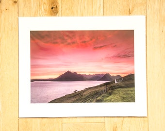 Cuillin Sunset Photographic Print
