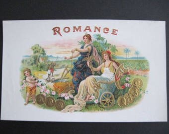 Romance Cigar Box Label