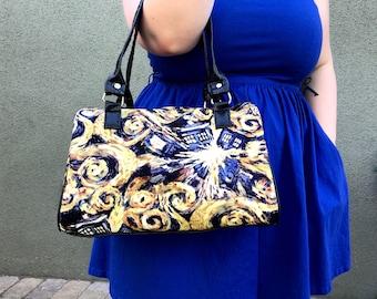 Handbag made with Exploding Tardis fabric