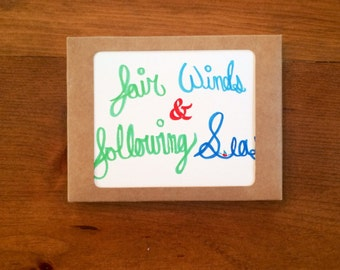 Fair Winds & Following Seas Note Cards (set of 8)