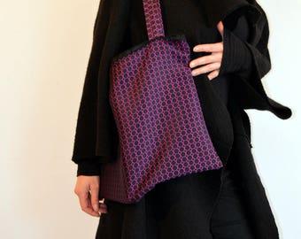 winter purple tote bag