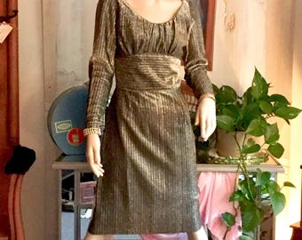 Amazing Vintage Lame Dress Hand Made Perfection