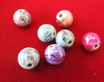 """20pc mixed """"spacer beads"""" hand-painted in acrylic style(BC213)"""