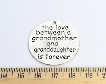 1 The Love Between A Grandmother and Granddaughter is Forever Charms - Grandma Charms - Grandmother Charms