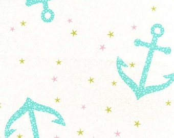 Michael Miller Fabric Starfish Anchors Pearl Into the Deep, Choose your cut