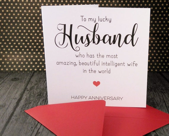 Wedding anniversary greeting cards for husband from wife