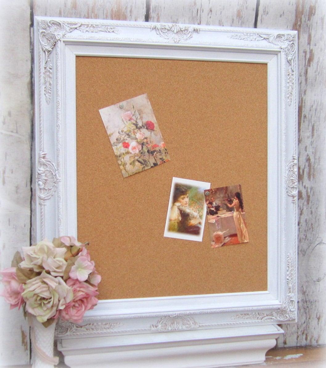 BLANCO marco de corcho tablero de venta 31 x 27