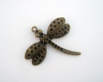 Bronze Dragonfly pendant 35 x 37 mm - PB-0025