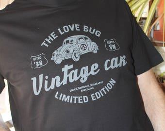 T-Shirt VINTAGE CAR/Black