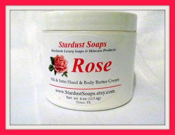 Rose Cream  (rich, creamy, thick, moisturizing, aromatic) Stardust soaps