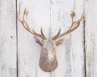 Deer Head, Antler Gift,Gift For Her,Deer Head Gift,Woodland Nursery,Small Deer Head,Apartment Decor,Deer Sculpture