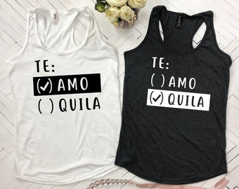 Te Amo Tequila shirt, Te Amo Te Quila, Cinco de Mayo Shirt, Cinco de Mayo, Bride Shirt, Bridal Shower Gift, Mrs Shirt, Bachelorette Party