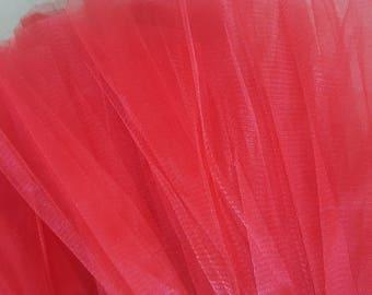 5 meters of tulle red width 25 cm