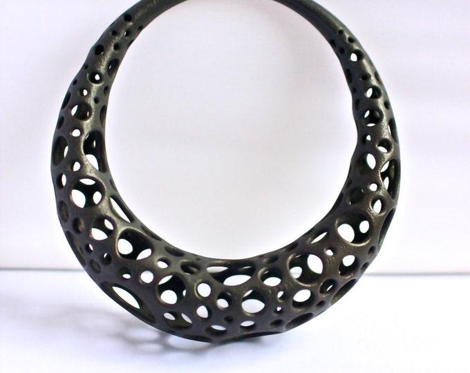 """""""Lacuna"""" Bracelet in Blackened Steel"""