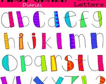 Cute Little Letters Digital Alphabet Clip Art --BUY 2, GET 1 FREE