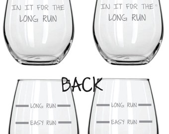 In It For The Long Run Running Glass FREE Personalization