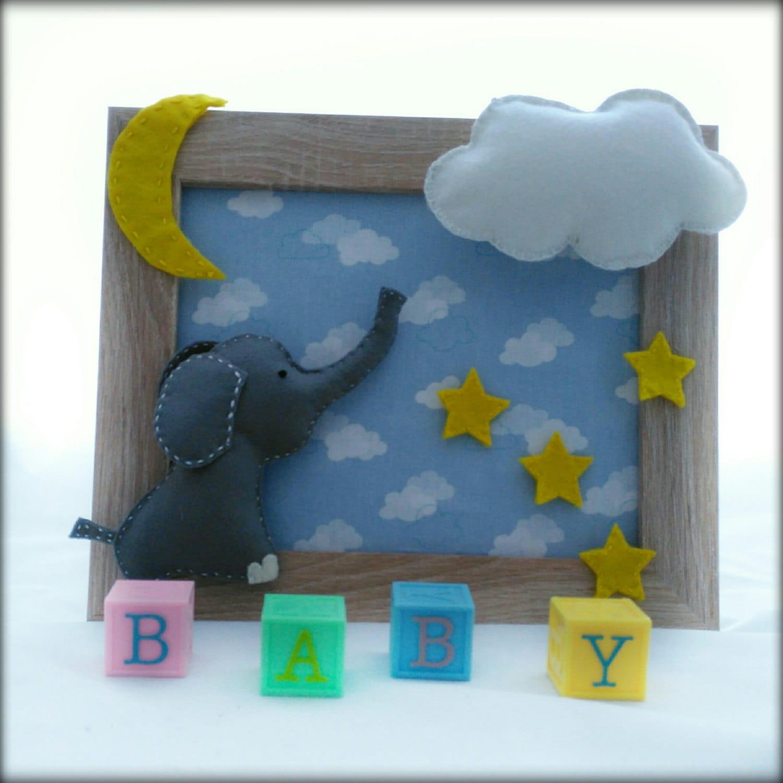handgefertigte Baby-Rahmen Neugeborene Geschenk Wandkunst