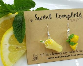 Lemon and Lemonade drop Earrings mismatch set, turning a Lemony day into Lemonade