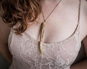 Antler Tip Necklace / Antler Necklace / Hunter Necklace / Antlers / Horn Necklace / Deer Necklace