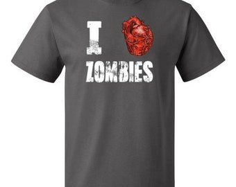 ON SALE - I Love Zombies - Men's T-shirt