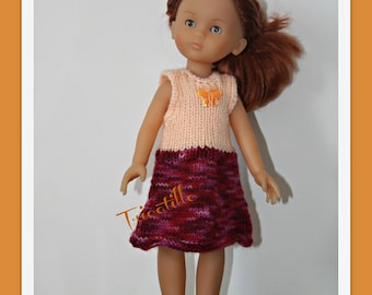 """Two-tone dress for your doll """"sweethearts"""""""