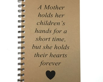 Journal, Mothers Poem, Gift to Mom, Mothers Day Gift, Notebook, Gift, From Daughter, From Son, Birthday,  Personalized, mom, Gift for Mom,