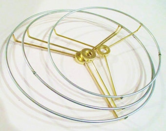 Lamp Shade Hardware, Lampshade Rings, Washer Top Fitting, Lamp Supplies, DIY Lamp Shade, Lamp Shade Wires Top and Bottom Rings, Craft Supply
