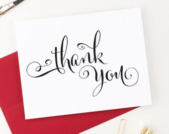 Thank You Cards Wedding, Thank you cards Baby shower, Thank you note cards, Thank you notes Wedding, Any Occasion - (Set of 10), WCP05