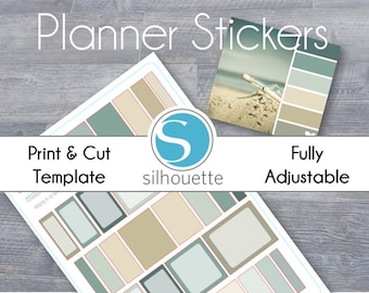 Compact Passion Planner MultiBox Stickers - Silhouette Studio File