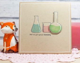 We've got chemistry - square card