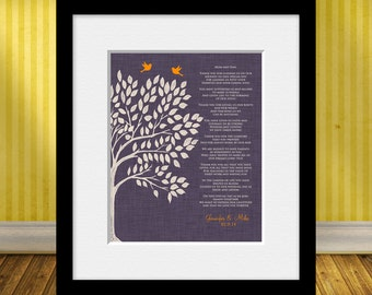 Wedding Day Gifts, Parent's Poem, Thank You Gift for Parents, Wedding Tree Print, Gift for Bride's Parents, Gift for Groom's Parents