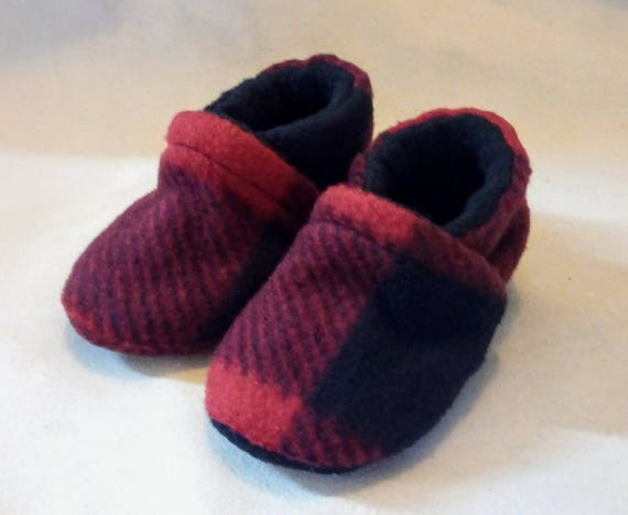 Buffalo Plaid: Soft Sole Baby Shoes 0-3M