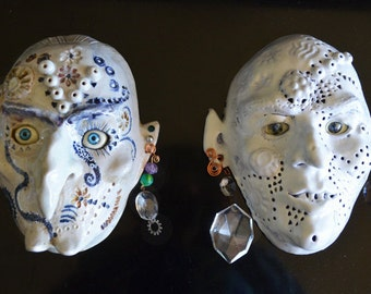 Gothic Garden Ghoul or Indoor Wall Art - One of a Kind