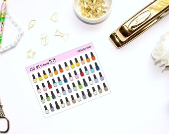 Multicolor Nail Polish // Planner Stickers