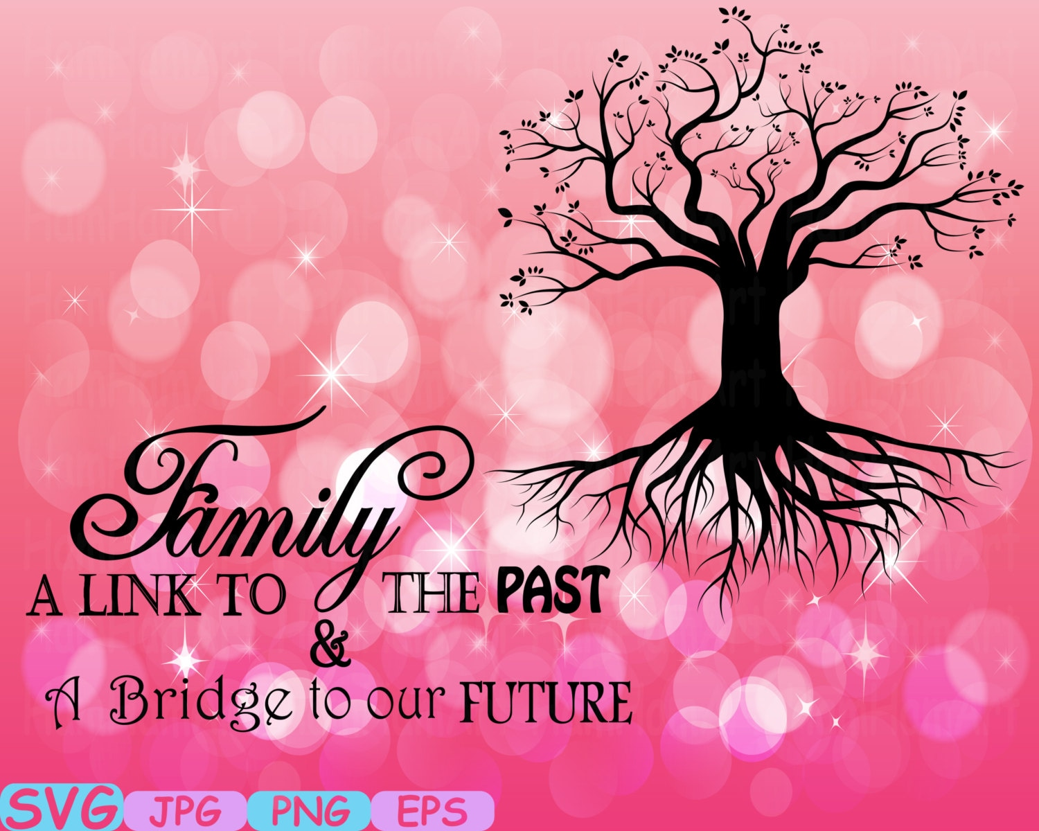 Family Tree Word Art Cutting Files Svg Family Tree Deep Roots