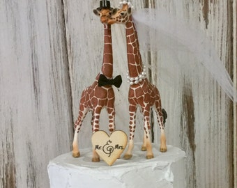 Giraffe Cake Topper, Giraffe Wedding Cake Topper, Animal Cake Topper, Animal Lover Cake Topper