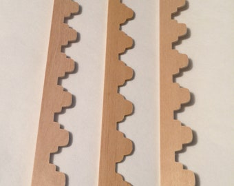 A Set of 3+ Pieces of 2 Step Scalloped Trim in One Inch Scale for a Dollhouse or Room Box
