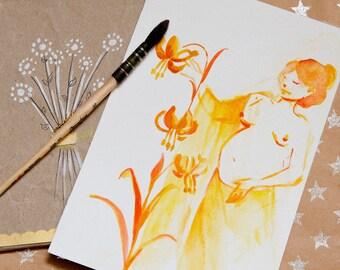 """""""Renaissance"""" watercolor illustration"""
