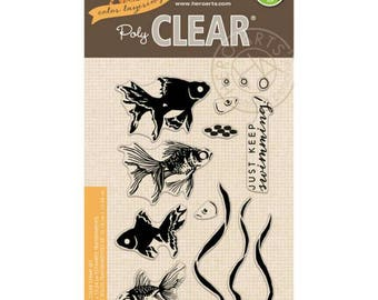 Hero Arts PolyClear Crafting Stamp Sets ~Goldfish~ Color Layering Crafting Stamps