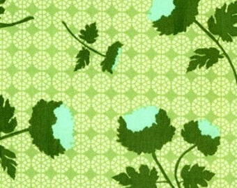 Rare Decor Weight Joel Dewberry Ginseng Collection Tossed Flowers Celery Color All Fabric is mailed Priority Mail