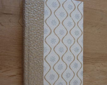"""""""Gold and silver"""" graph paper notebook"""