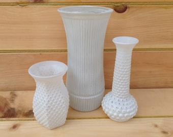 White Painted Vases, rustic vases,  Shabby Chic wedding, wedding vases, Home Decor, Cottage Chic, farmhouse, 169.1