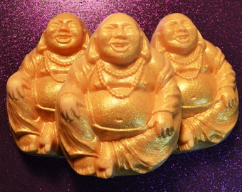 Smiling Buddha Vegan Soap Hand Poured Soap Vanilla Sandalwood