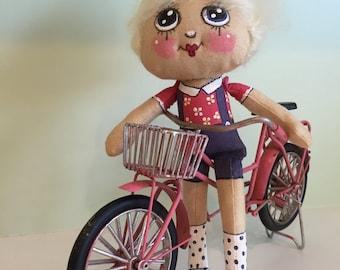 Sweetie Pie Doll Blond Handmade Hand painted ART DOLL