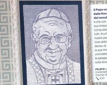 Papa Francesco Crochet Potrait