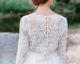 Crystal Bridal Comb, Pearl Wedding Hair Comb, Floral Bridal Hair Comb, Bridal Accessory, Bridal Back Piece, Wedding Back Comb, Bride