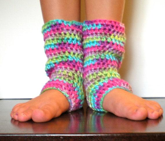 PATTERN: Kid Yoga Socks Leg Warmers Easy Crochet Dance