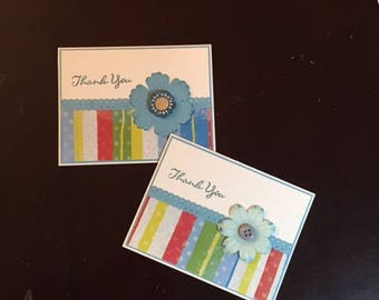 thank you homemade cards; homemade thank you cards; blank cards; thank you cards