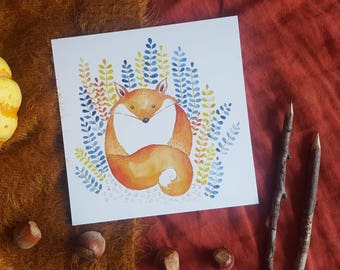 Little Fox card