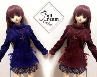 SD/DD RIBBON Turtleneck Sweater + accessory